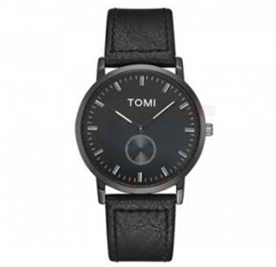 Tomi Analog Quartz Mens Watches TO73, Black