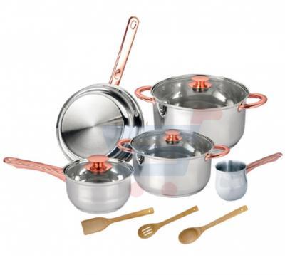 Royalford 11 Pcs Rose/Gold Cookware Set - RF7841