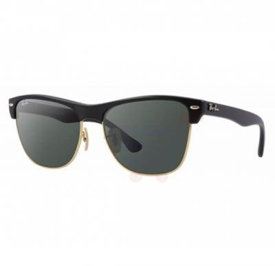 Ray-Ban Clubmaster Black Frame & Classic Green Mirrored Sunglasses For Women - RB4175-877-57