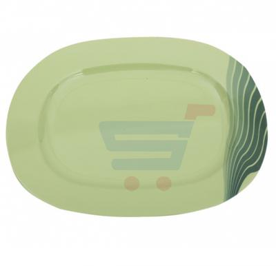 Royalford Melamine Ware 14 Inch Oval Plate Radiant Thai Green - RF8160