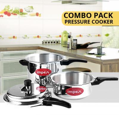 Impex Pressure Cooker Combo Pack Norma 3 Liter + 5 Liter - IPC5C3