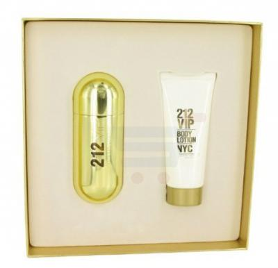 Carolina Herrera 2 Piece 212 VIP Lady Perfume EDP Set EDP Spray 80ml and Body Lotion 200ml