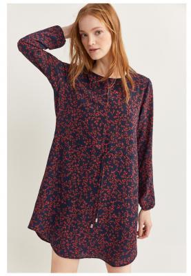 Springfield Ladies Fashion Dress Dark Blue/Pink Flowers
