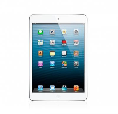 Apple iPad Mini, 16GB, Wifi, 4G LTE, White with 1 Year Axiom Warranty