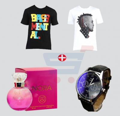 Combo Offer! Blot 2 Tshirt + Ruky Zag Perfume + Yazole Watch