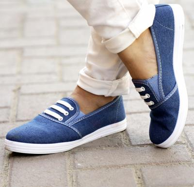 Ladies Denim Shoes Blue Size US 42-2921