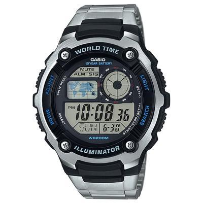 Casio AE-2100WD-1AVDF Digital Grey Dial Watch for Men