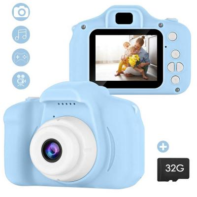 Kids Camera with 32GB Memory Card Assorted Color, 2 Inch Screen Mini Rechargeable Childrens Digital Camera,Shockproof Video Camcorder