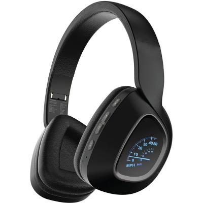 Promate Bluetooth Headphones, Over-Ear Deep Bass Wireless Headset with LED Light Earcups, BAVARIA.BLACK