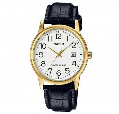 Casio Genuine leather Watch For Men, MTP-V002GL-7B2