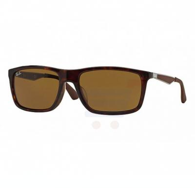 Ray-Ban Rectangle Brown Frame & Classic Brown Mirrored Sunglasses For Women - RB4228F-902-73-58