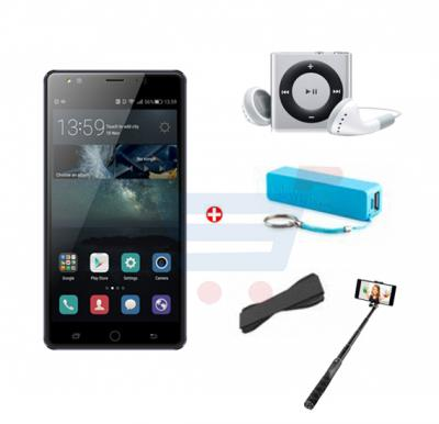 Bundle Offer Hotwav Cosmos V4 Smartphone,Android 5.1,4G,2GB RAM,16GB Storage,6inch HD LED Display,Dual Camera,Dual SIM,Wifi and Get Mp3 Player,Power Bank,Selfie Stick and Grip Cover FREE-Black