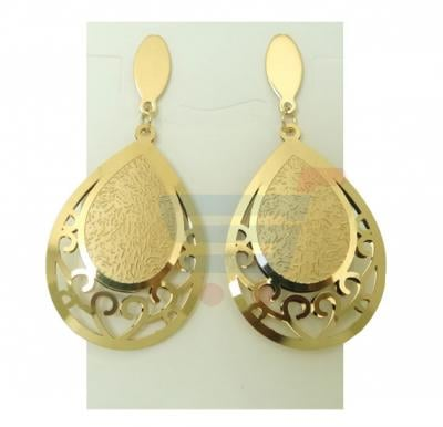 Elissa Jewelry 22K Gold Plated Ladies Luxury Earrings, EY025