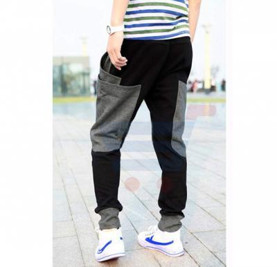 Mens KANGROO Designer Trouser Black - 2564 - S