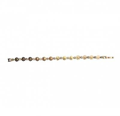 Ayisha Jewellery 22K Gold Plated Flower Design Bracelet With Stone, AY 019
