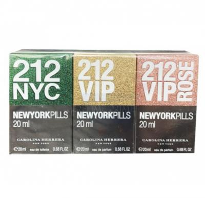 Carolina Herrera 212 Gift Set EDT 20ml, Vip EDP 20ml, Vip Rose EDP 20ml