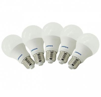 Combo Offer! Sonashi 5W LED Bulb (Screw Type) E27 (Pack of 5), SLB-005