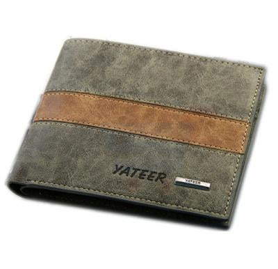 Brown Leather Clip Wallet For Unisex