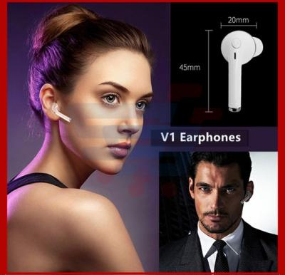 V1 Stereo Bluetooth Earphone Headphone Mini V4.1 CSR4.1 Wireless Music Headset Phone Stealth Earbuds With Microphone