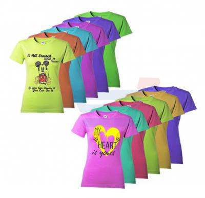 Colored T Shirt For Women 12 Pieces Set, CT 72
