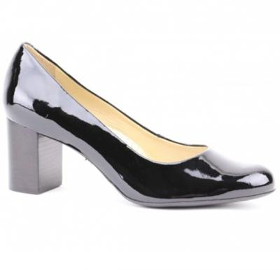Hush Puppies Ladies Formals Shoe Black Patent Leather, Size 6, H509647