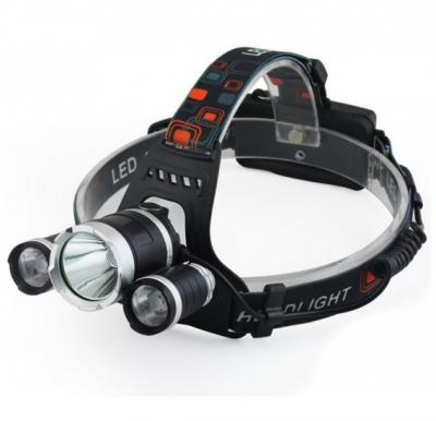 Outdoor three T6 bright headlamp rechargeable fishing cycling camping lights, TD0020