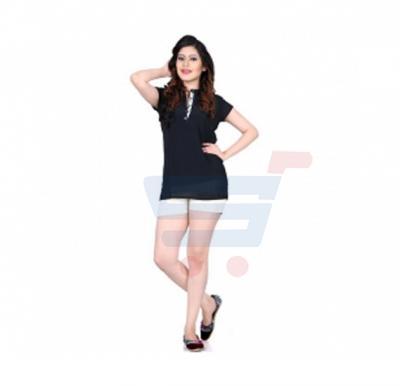 Tempting Half Sleeve Top Black Color - 96CL096 - L