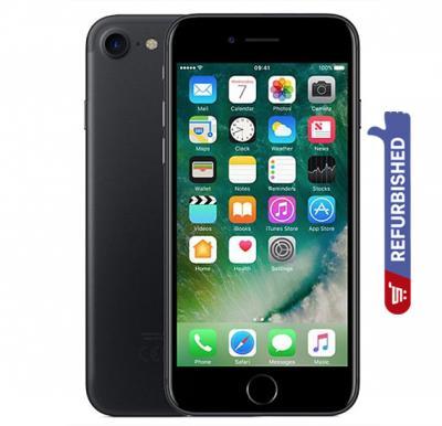 Apple iPhone 7 Smartphone, iOS10, 4.7 Inch Retina HD Display, 2GB RAM, 32GB Storage, Dual Camera(Refurbished) - Matte Black