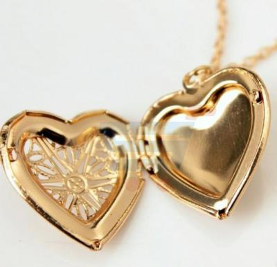 Gold Plated Romantic Locket Pendant Necklace For Women