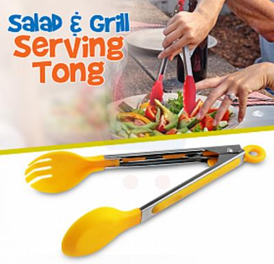 Top Tongs Stainless Steel Salad & Grill Serving Tong With Silicon Tip, 509K1