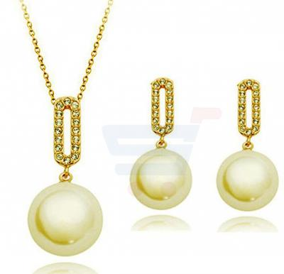 18k Rose Gold Plated Austrian Crystal Jewelry Set For Women