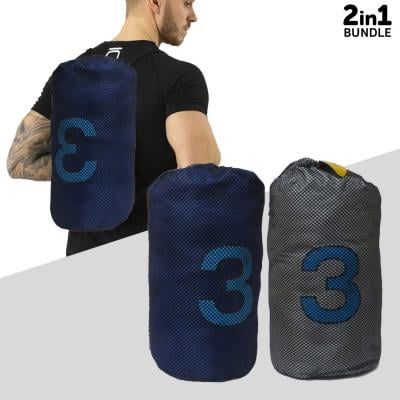 2 in 1 Bundle Offer Orami Gym Bag OMGB 5027 Blue & Grey