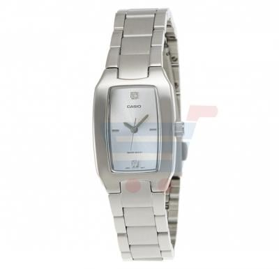 Casio Analog Watch For Women, Silver stainless Steel Band-LTP-1165A-7C2