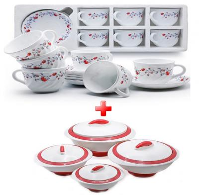 Mega 20 pcs Kitchen combo 8 pcs pinnacle sets + 12 pcs high quality saucer sets