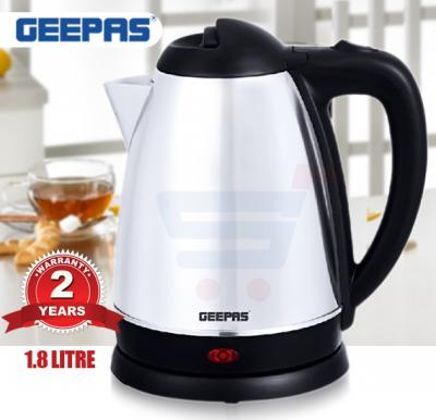 Geepas 1.8 Litre Stainless Steel Kettle GK5454, Automatically Turns Off When Water Boils
