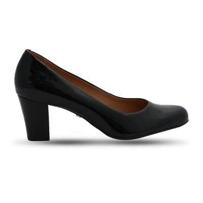 Hush Puppies Ladies Casuals Shoes Black Patent Leather, H508497