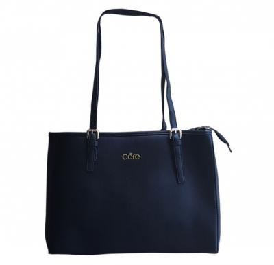 Core 988 Tote Bag for Women - Pure Leather, Black Color
