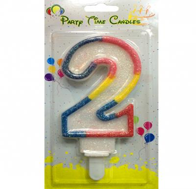 Party Time Number Candle 2 Big M098