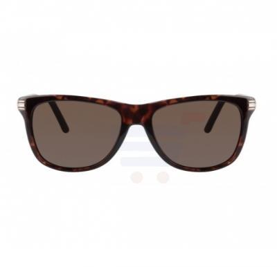 Mont Blanc Round Dark Havana Frame & Black Mirrored Sunglasses For Men - MB502S-52E