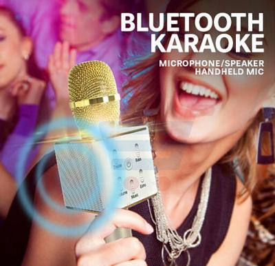 Multi Functional Bluetooth Karaoke Microphone/Speaker, ZN7516 Wireless Handled Mic
