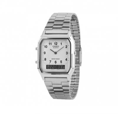 Casio Mens Stainless Steel Analog or Digital Watch AQ-230A-7BMQ (CN)