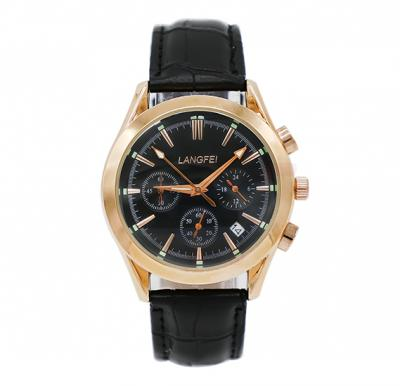 Langfei Mens Watch with Chronographic Meters