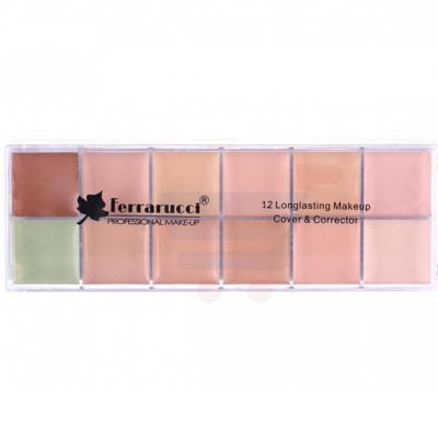 Ferrarucci 12 Long Lasting Makeup Cover and Corrector, Multi Color