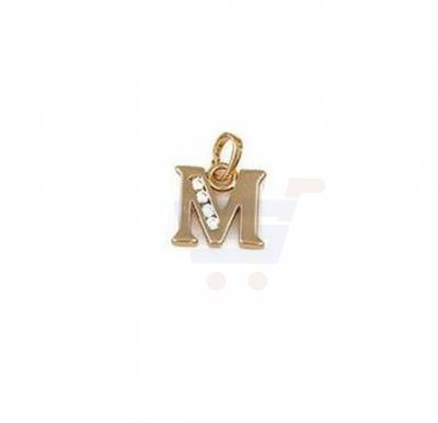 Xuping Necklace Pendant Gold Plated Letter  M