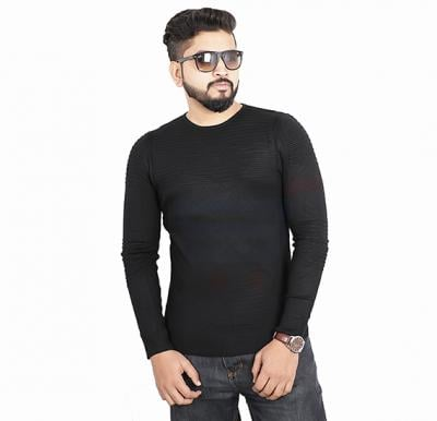 Score Jeans Mens Sweater Full Sleev Black - HF533 - M