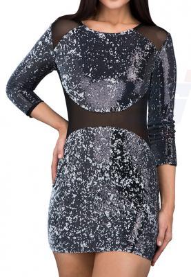 TFNC London Bezzie Sequin Party Dress Black - CTT 20970 - L