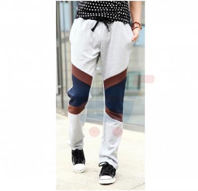 Mens CROSS Patch Designer Trouser Grey - 2657 - S