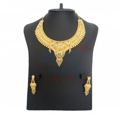 Alia Arts 22K Gold Plated Ladies Luxury Necklace Set, AL 13135