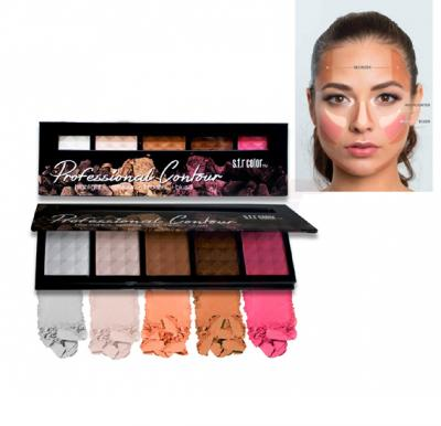 SFR Color Professional Contour with Highlight, Contour, Bronzer and Blush - 6713