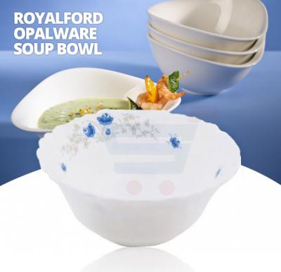 Royalford Opalware Soup Bowl Romantic 5 Inch White - RF5686